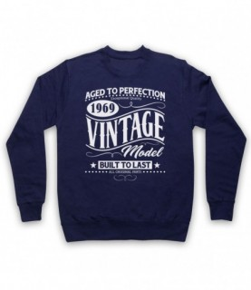 1969 Vintage Model Born In Birth Year Date Funny Slogan Hoodie Sweatshirt Hoodies & Sweatshirts