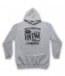 1973 Vintage Model Born In Birth Year Date Funny Slogan Hoodie Sweatshirt Hoodies & Sweatshirts