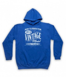 1974 Vintage Model Born In Birth Year Date Funny Slogan Hoodie Sweatshirt Hoodies & Sweatshirts