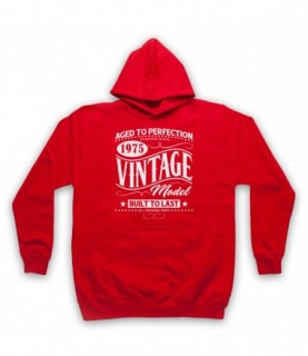 1975 Vintage Model Born In Birth Year Date Funny Slogan Hoodie Sweatshirt Hoodies & Sweatshirts