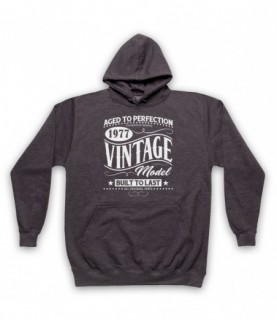 1977 Vintage Model Born In Birth Year Date Funny Slogan Hoodie Sweatshirt Hoodies & Sweatshirts