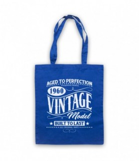 1960 Vintage Model Born In Birth Year Date Funny Slogan Tote Bag
