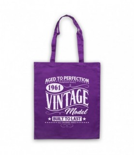 1961 Vintage Model Born In Birth Year Date Funny Slogan Tote Bag