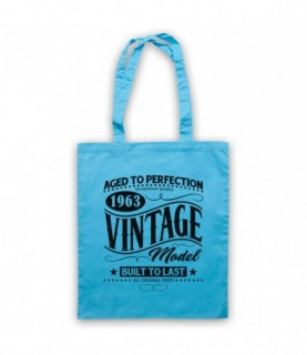 1963 Vintage Model Born In Birth Year Date Funny Slogan Tote Bag