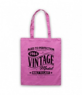1964 Vintage Model Born In Birth Year Date Funny Slogan Tote Bag