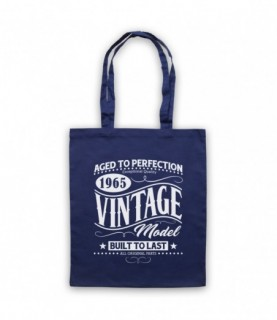 1965 Vintage Model Born In Birth Year Date Funny Slogan Tote Bag