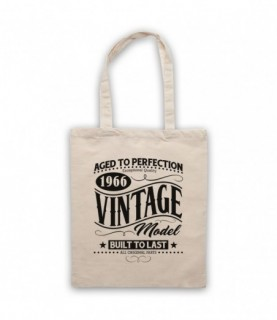 1966 Vintage Model Born In Birth Year Date Funny Slogan Tote Bag