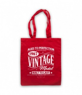 1967 Vintage Model Born In Birth Year Date Funny Slogan Tote Bag