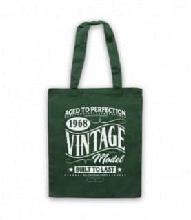 1968 Vintage Model Born In Birth Year Date Funny Slogan Tote Bag