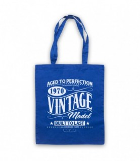1970 Vintage Model Born In Birth Year Date Funny Slogan Tote Bag