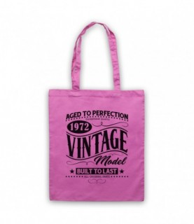 1972 Vintage Model Born In Birth Year Date Funny Slogan Tote Bag