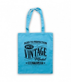 1973 Vintage Model Born In Birth Year Date Funny Slogan Tote Bag