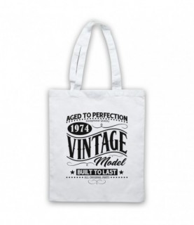 1974 Vintage Model Born In Birth Year Date Funny Slogan Tote Bag