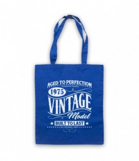 1975 Vintage Model Born In Birth Year Date Funny Slogan Tote Bag