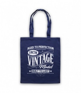 1976 Vintage Model Born In Birth Year Date Funny Slogan Tote Bag