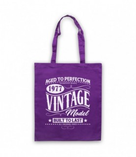 1977 Vintage Model Born In Birth Year Date Funny Slogan Tote Bag
