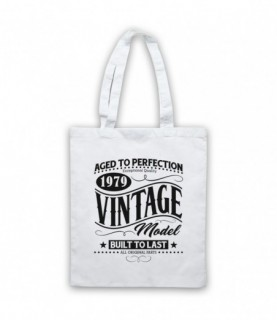 1979 Vintage Model Born In Birth Year Date Funny Slogan Tote Bag