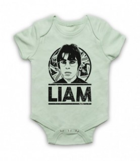 Oasis Liam Gallagher Tribute Baby Grow Bib