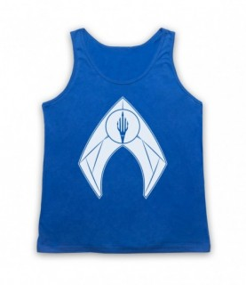 Aquaman Superhero Logo Tank Top Vest