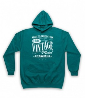 1981 Vintage Model Born In Birth Year Date Funny Slogan Hoodie Sweatshirt Hoodies & Sweatshirts