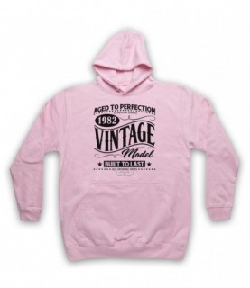 1982 Vintage Model Born In Birth Year Date Funny Slogan Hoodie Sweatshirt Hoodies & Sweatshirts