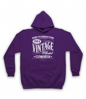 1984 Vintage Model Born In Birth Year Date Funny Slogan Hoodie Sweatshirt Hoodies & Sweatshirts