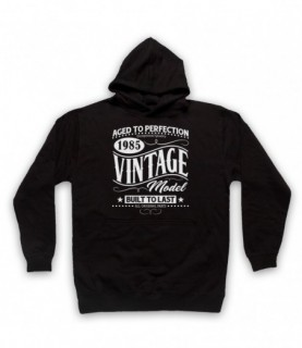 1985 Vintage Model Born In Birth Year Date Funny Slogan Hoodie Sweatshirt Hoodies & Sweatshirts
