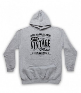 1986 Vintage Model Born In Birth Year Date Funny Slogan Hoodie Sweatshirt Hoodies & Sweatshirts