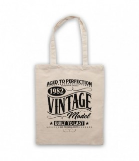 1982 Vintage Model Born In Birth Year Date Funny Slogan Tote Bag