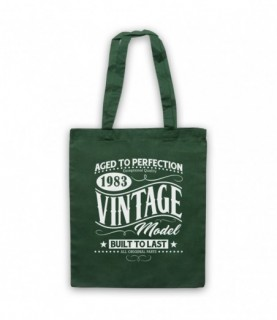 1983 Vintage Model Born In Birth Year Date Funny Slogan Tote Bag