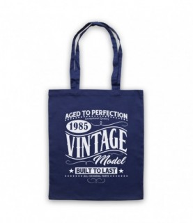 1985 Vintage Model Born In Birth Year Date Funny Slogan Tote Bag