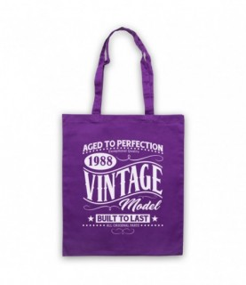 1988 Vintage Model Born In Birth Year Date Funny Slogan Tote Bag