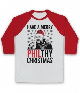 Eastenders Phil Mitchell Have A Merry Philthy Christmas Baseball Tee