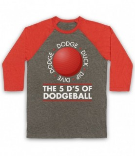 Dodgeball The 5 D's Dodge Duck Dip Dive And Dodge Baseball Tee