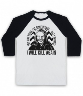 Twin Peaks Killer Bob I Will Kill Again Baseball Tee