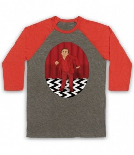 Twin Peaks The Man From Another Place Red Room Dancing Dwarf Baseball Tee