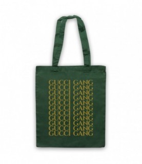 Lil Pump Gucci Gang Gold Print Tote Bag