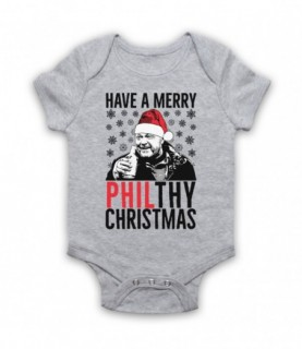 Eastenders Phil Mitchell Have A Merry Philthy Christmas Baby Grow Bib