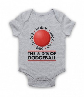 Dodgeball The 5 D's Dodge Duck Dip Dive And Dodge Baby Grow Bib