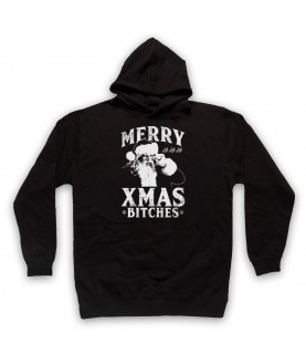 Merry Xmas Bitches Funny Father Christmas Parody Hoodie Sweatshirt Hoodies & Sweatshirts