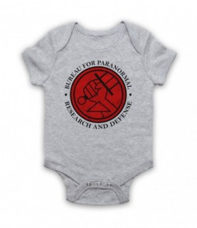 Hellboy Bureau For Paranormal Research And Defense Baby Grow Bib