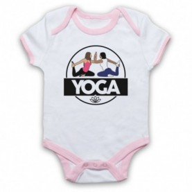 Yoga Health & Fitness Exercise Regime Baby Grow Bib