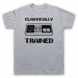 Classically Trained NES Console Controller Mens Heather Grey T-Shirt