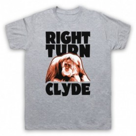 Every Which Way But Loose Right Turn Clyde Mens Heather Grey T-Shirt