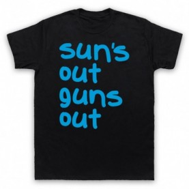 22 Jump Street Sun's Out Guns Out Mens Black T-Shirt