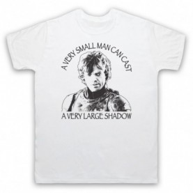 Game Of Thrones Tyrion Lannister Small Man Can Cast Large Shadow Mens White T-Shirt