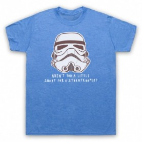 Star Wars Aren't You A Little Short For A Stormtrooper? Mens Heather Blue T-Shirt