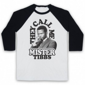 In The Heat Of The Night They Call Me Mr Tibbs Adults White & Black Baseball Tee