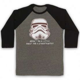Star Wars Aren't You A Little Short For A Stormtrooper? Adults Grey & Black Baseball Tee