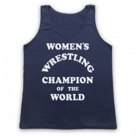 Women's Wrestling Champion Of The World As Worn By Andy Kaufman Adults Navy Blue Tank Top